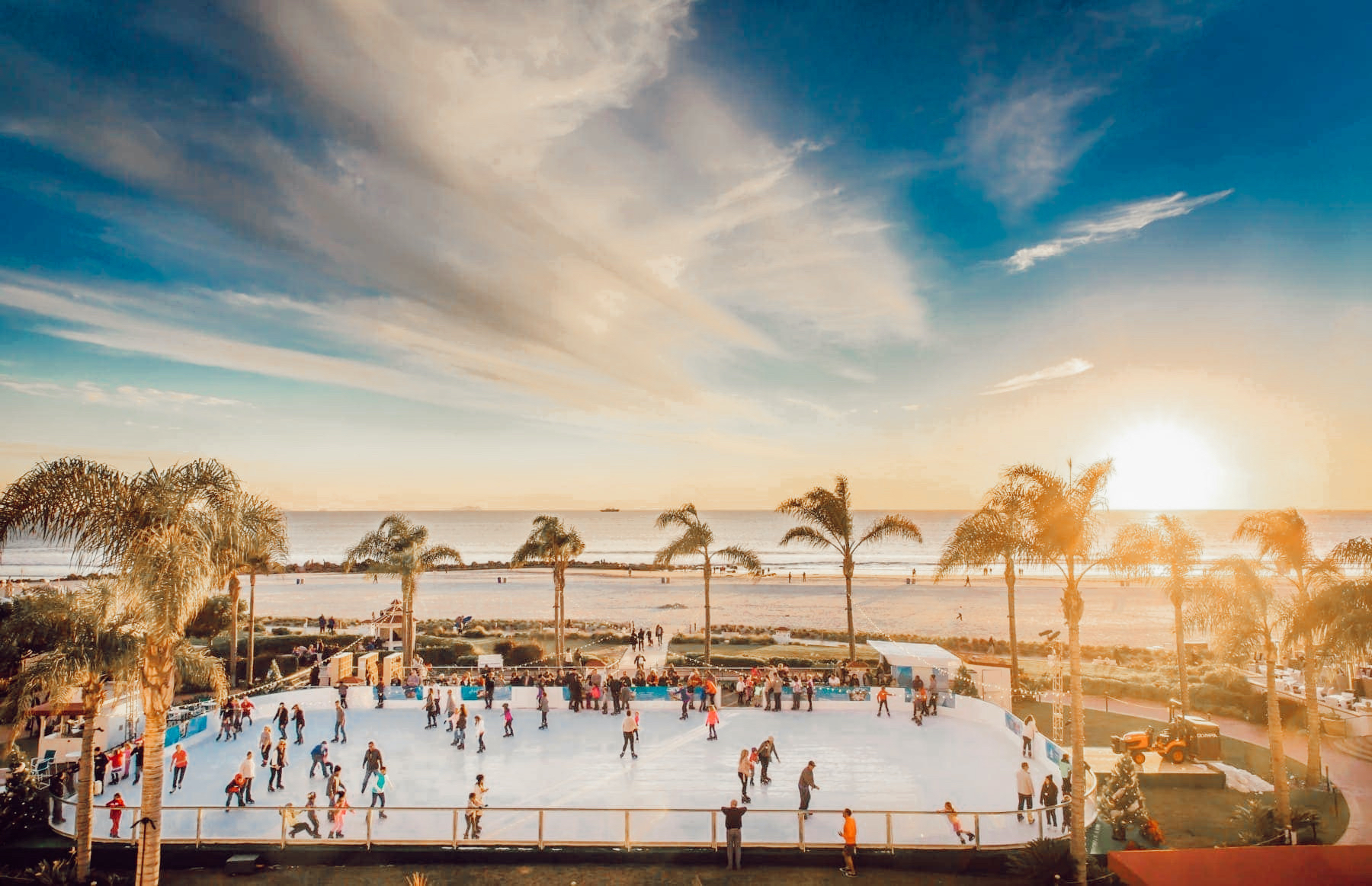 ice rink at the beach
