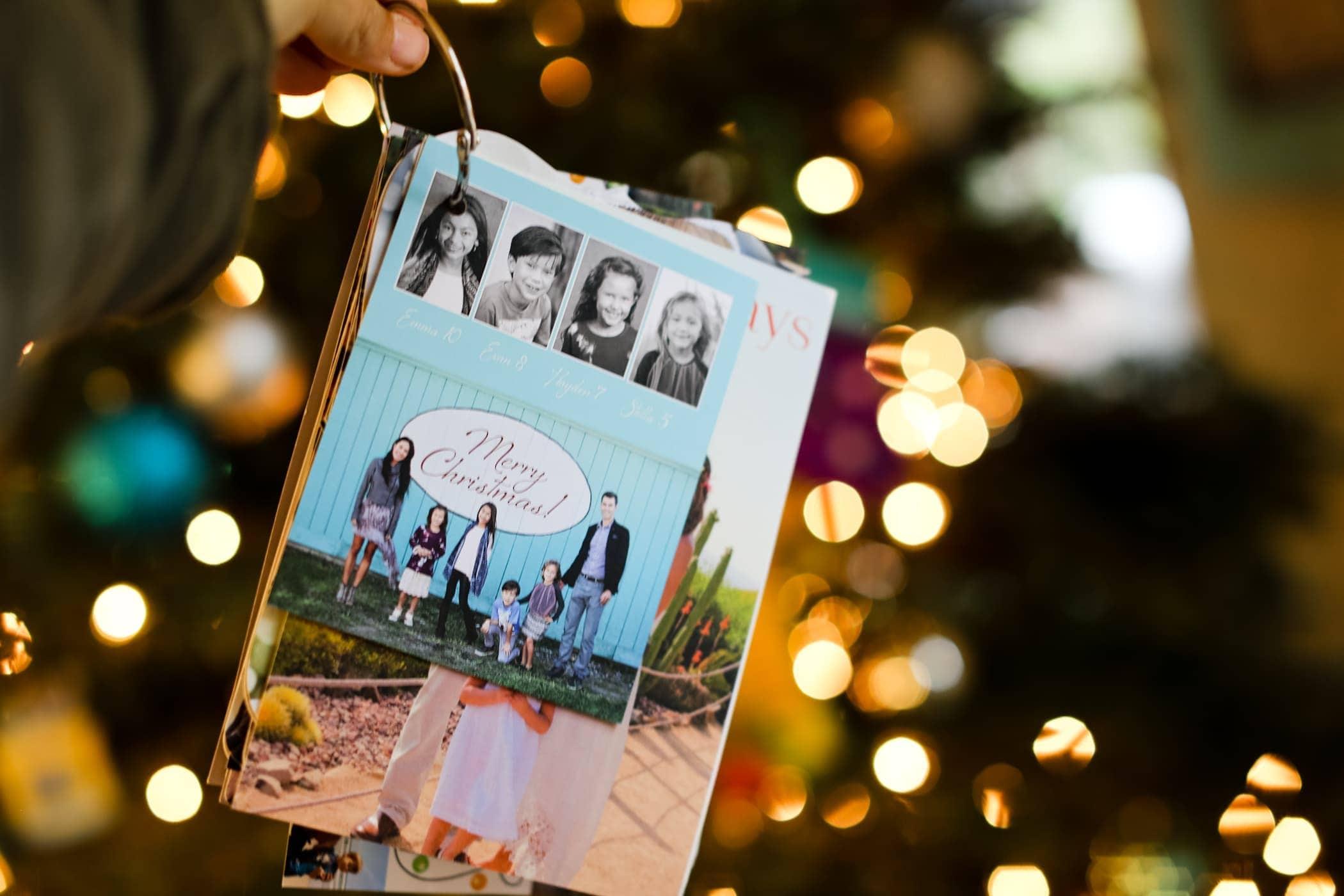 organized christmas cards