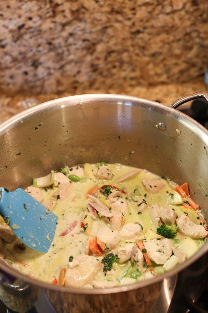 pot of creamy chicken