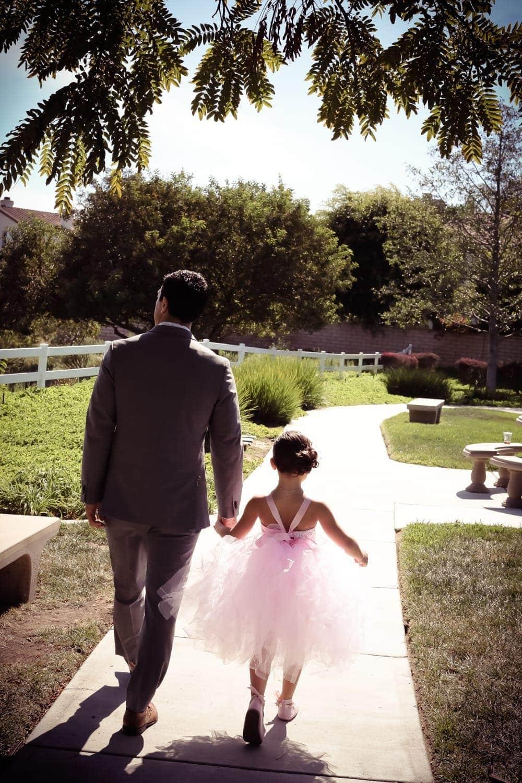 daddy daughter walking