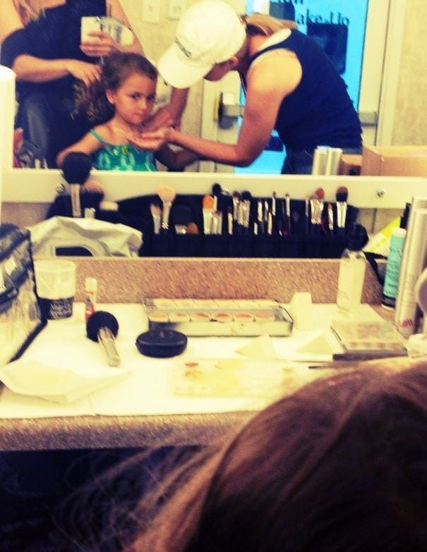 child actor backstage