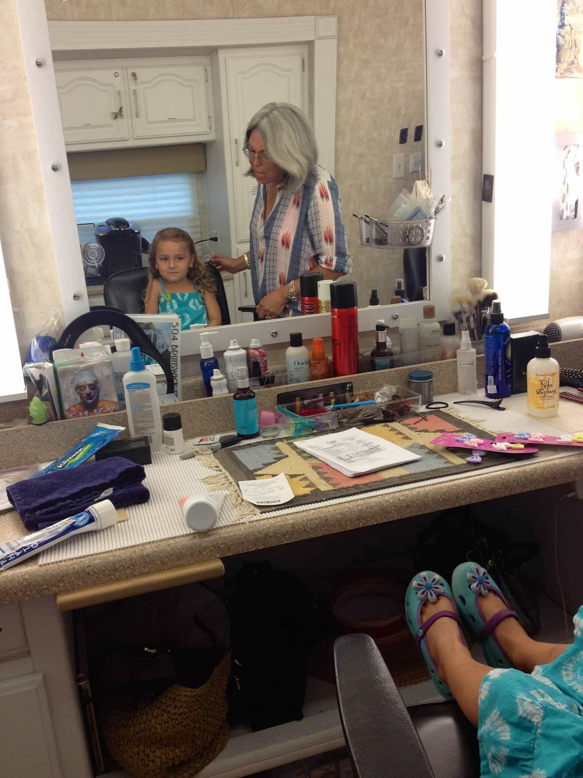 child acting backstage