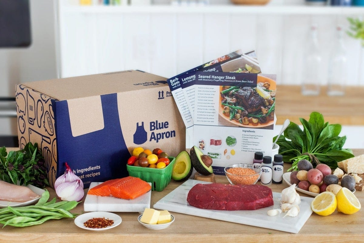 Blue Apron home meal delivery kit