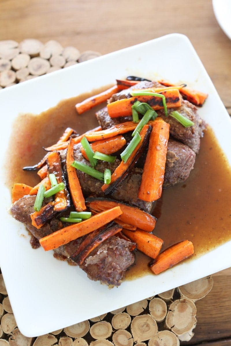 meat and carrots meal