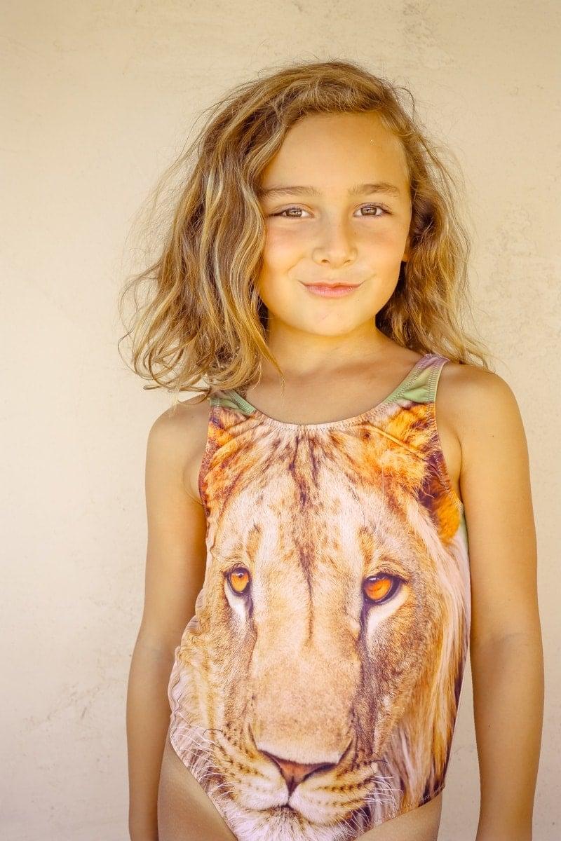 girl in cute bathing suit