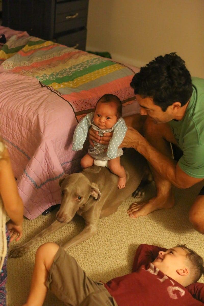 dad baby dad and children