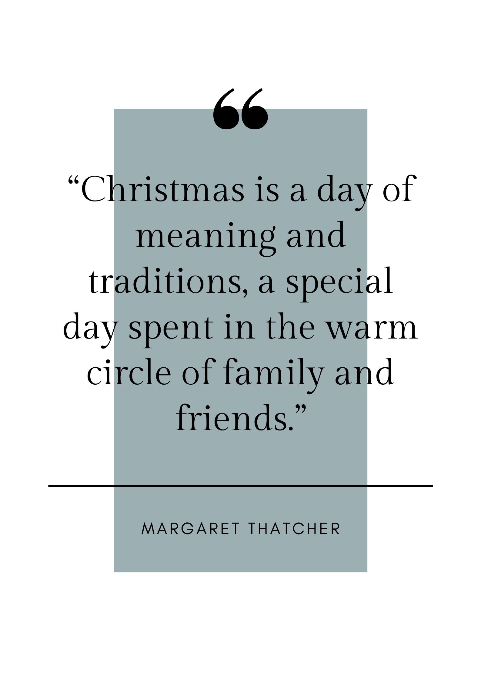 Margaret thatcher Christmas quote