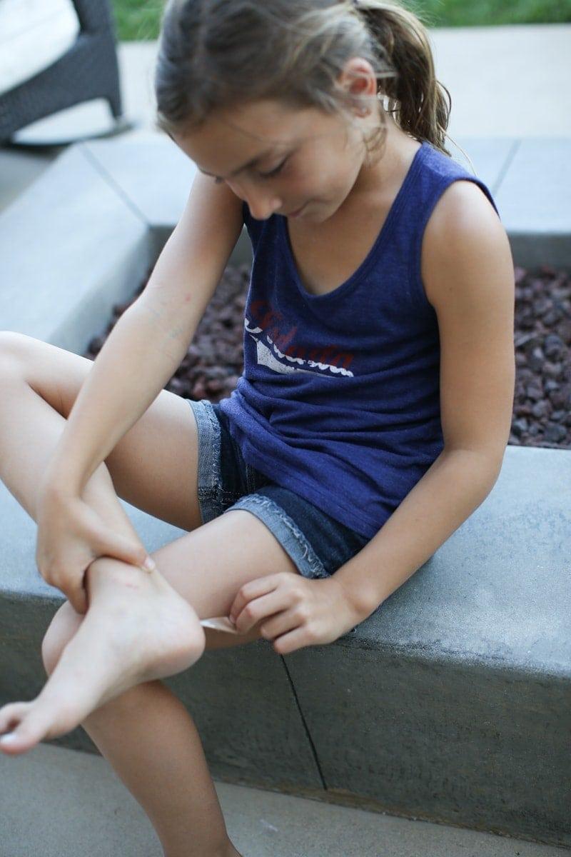 girl with bandaid