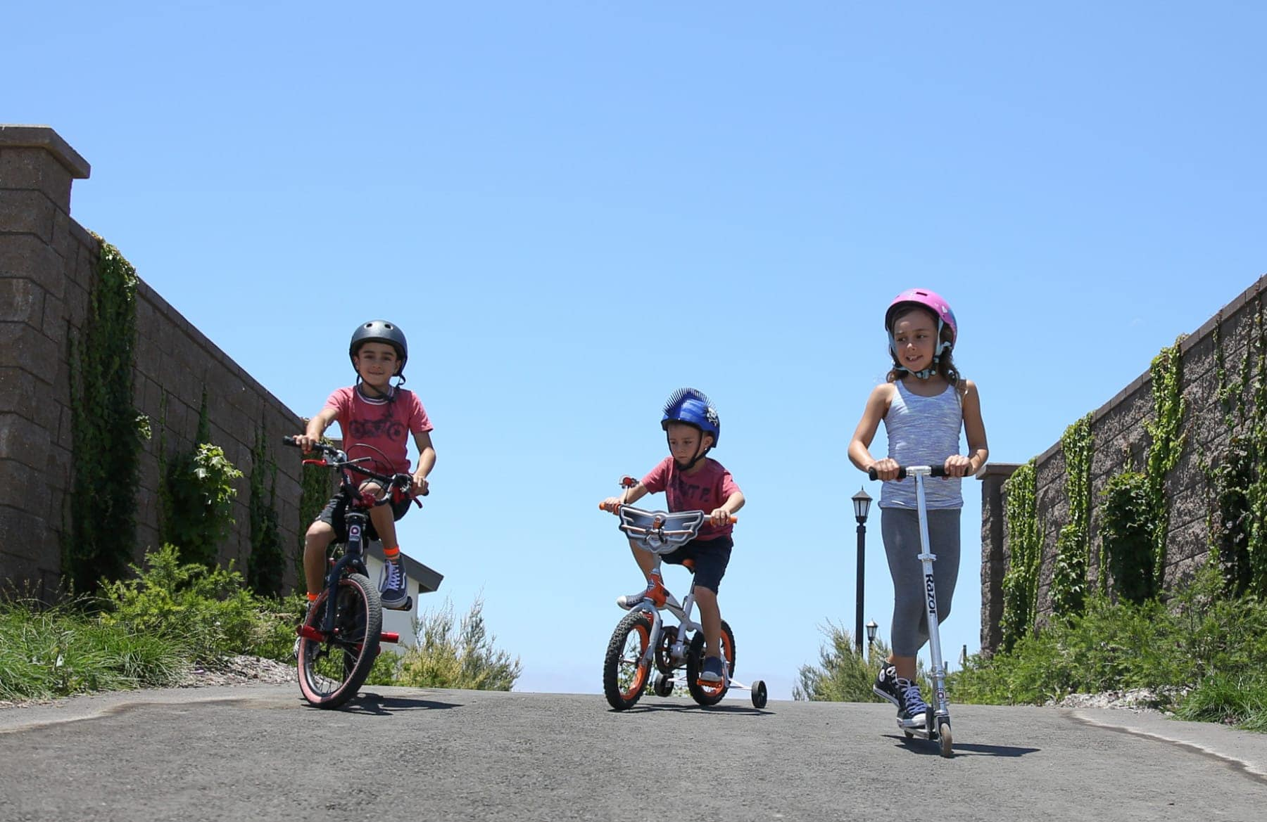 kids on bicycles