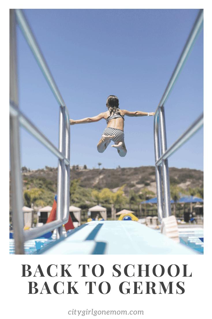 girl diving board