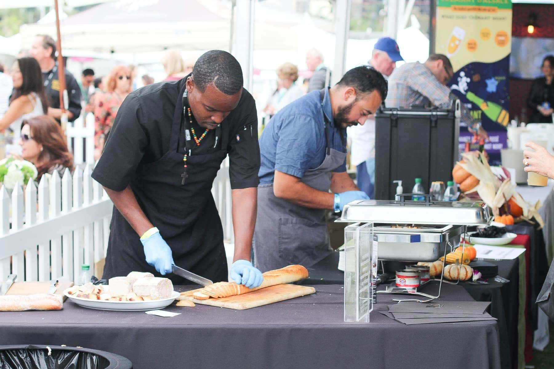 chefs cooking outdoors