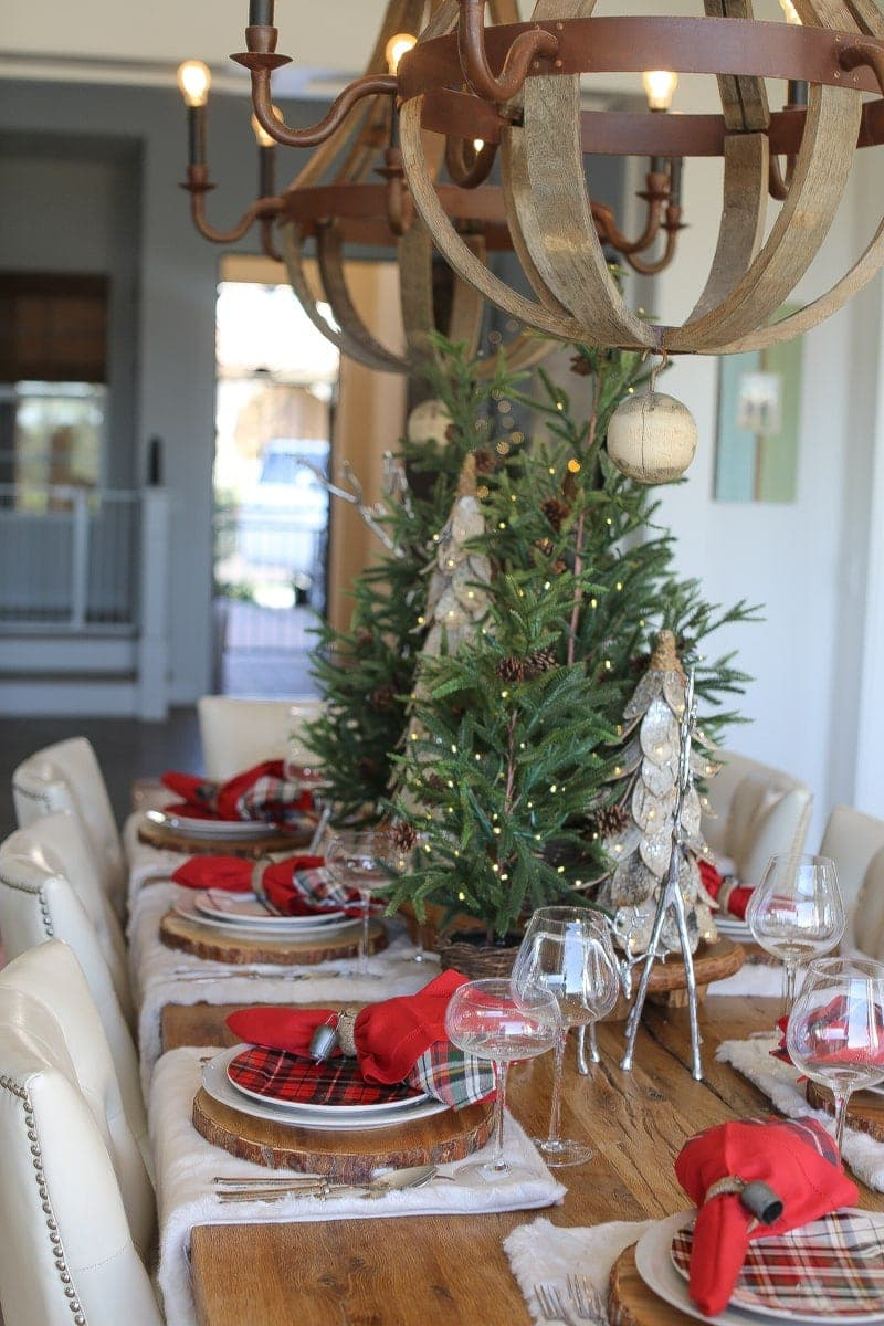 christmas decor, trees, dining table, entryway,
