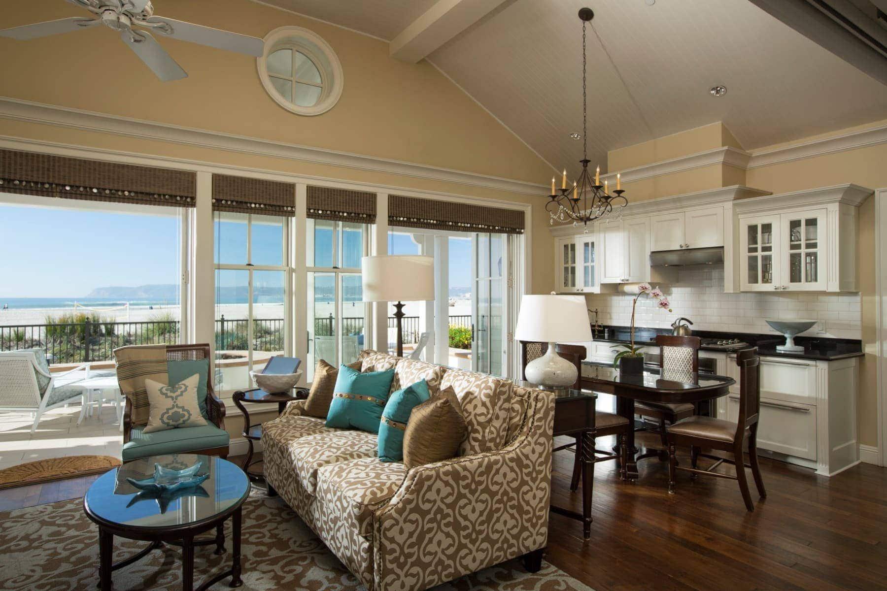 beachside home living room