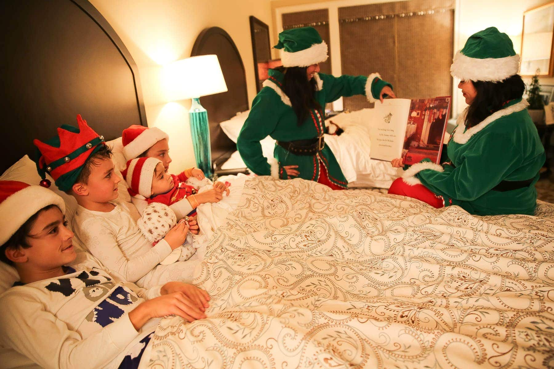 christmas bedtime stories with kids and elves