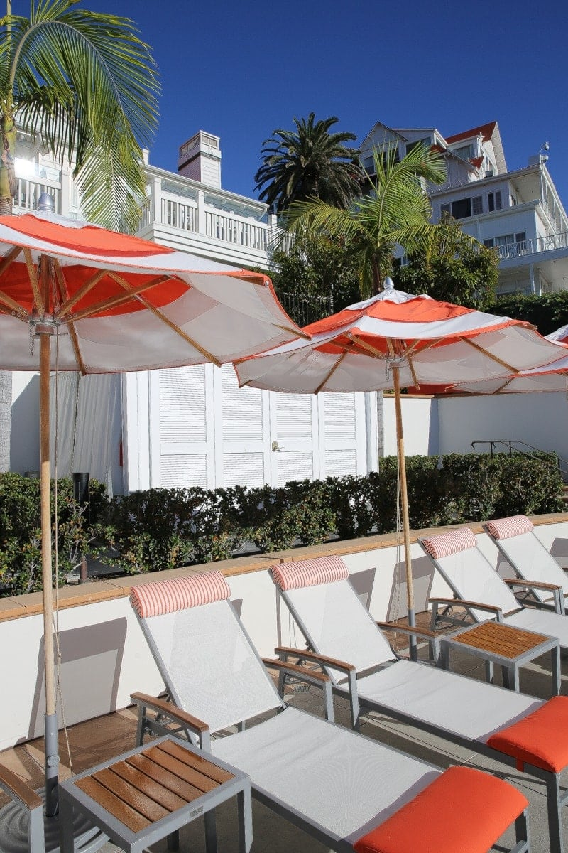 lounge chairs at hotel