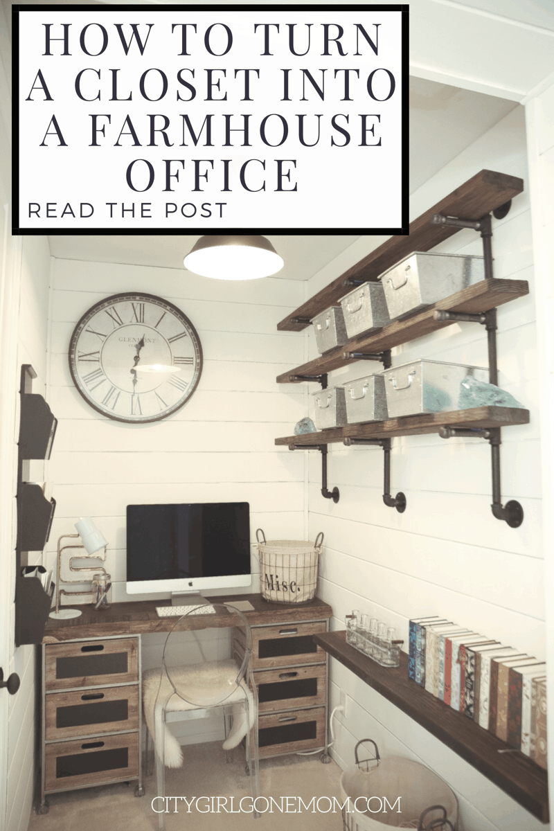 Farmhouse Style Home Office Renovation | City Girl Gone Mom