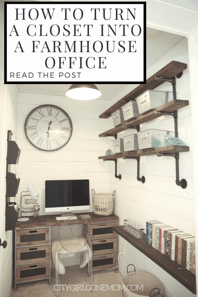 Farmhouse Style Home Office Renovation