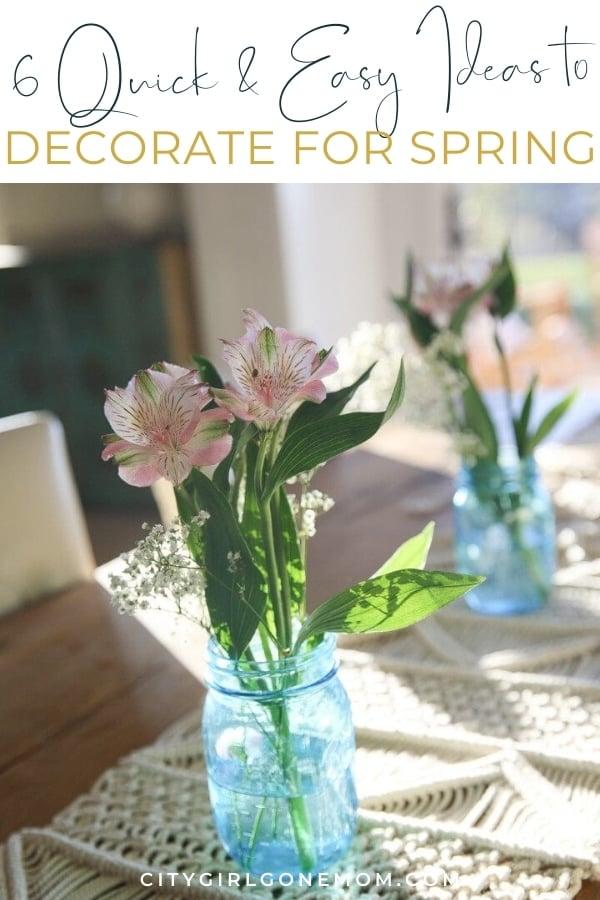 flower on kitchen table