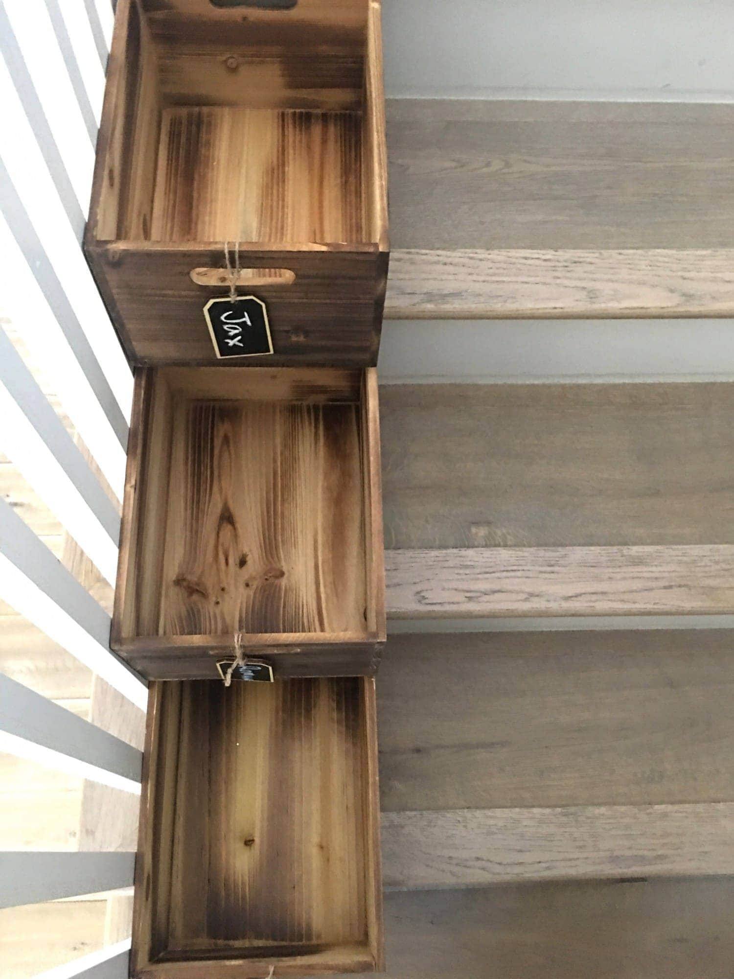 stair bins