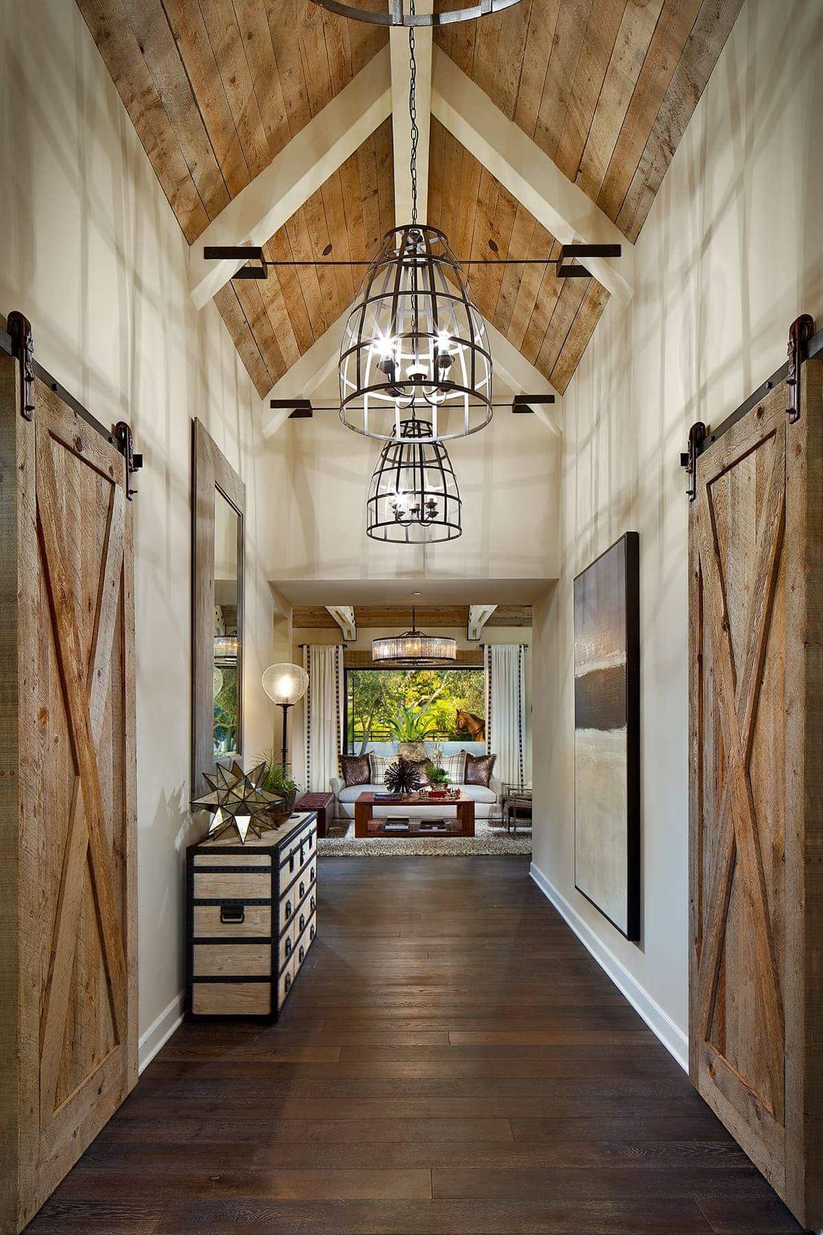 farmhouse style hallway
