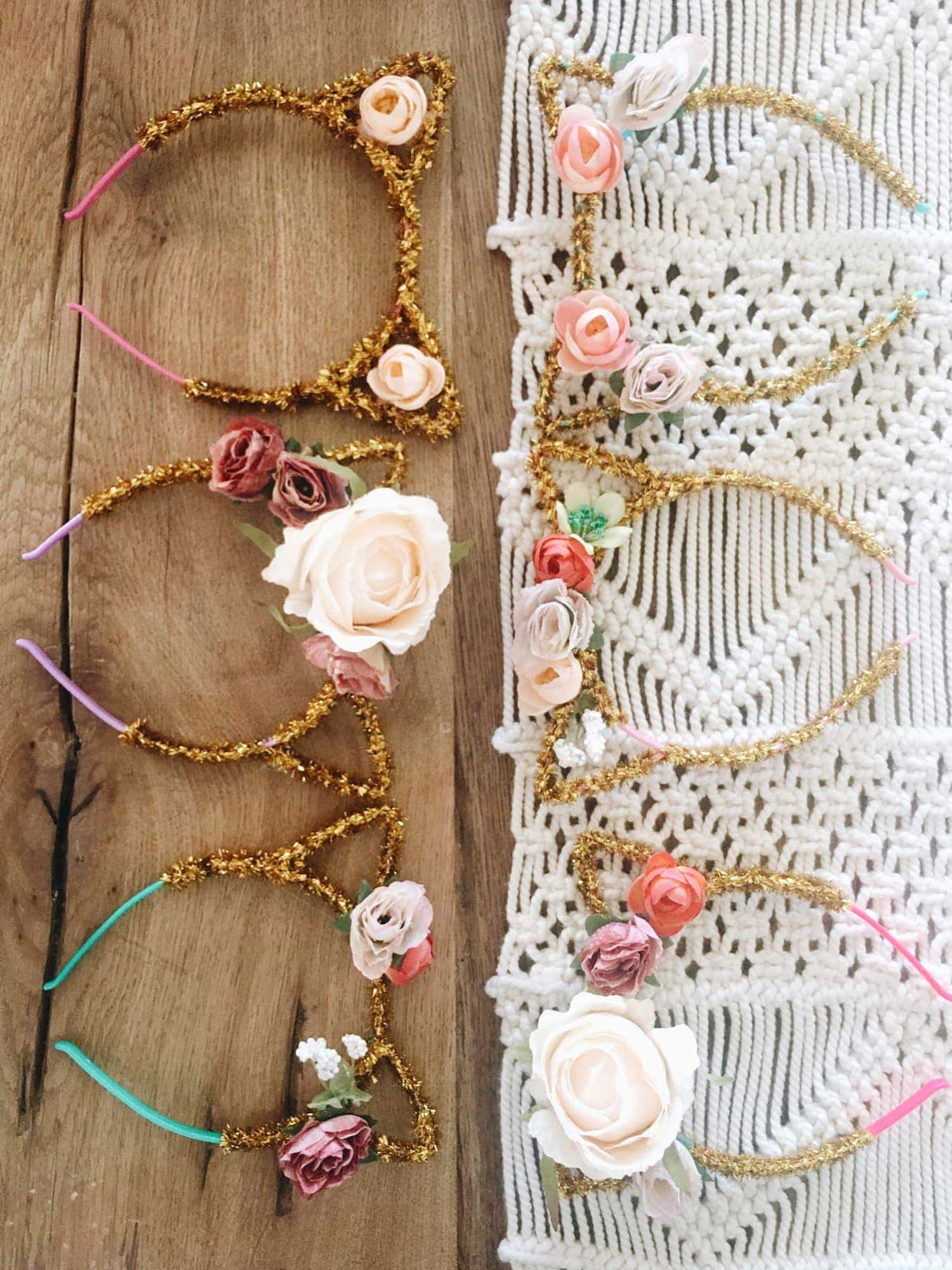 Diy kitten flower crown i am always on the hunt for a fun craft with my kids and when i saw on pinterest so many options for diy flower crowns i thought i would give it izmirmasajfo