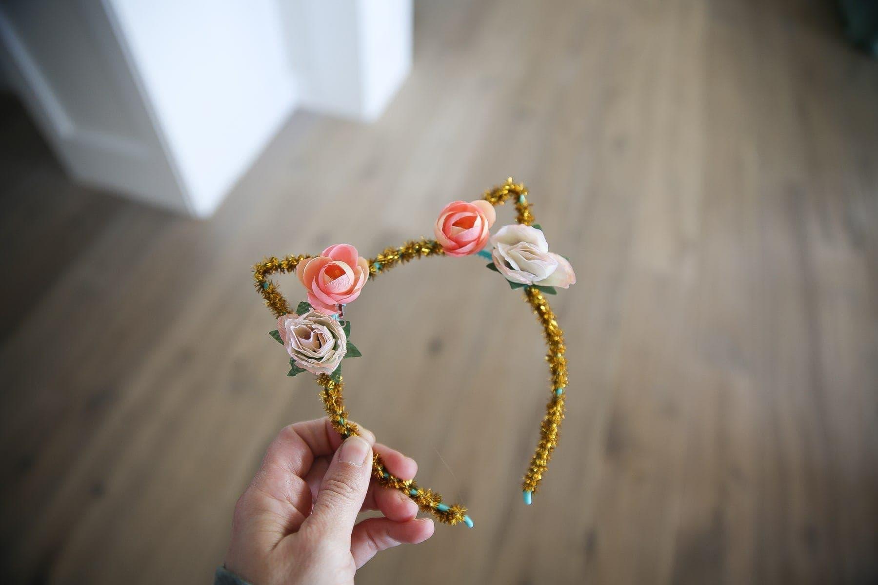 flower cat headband
