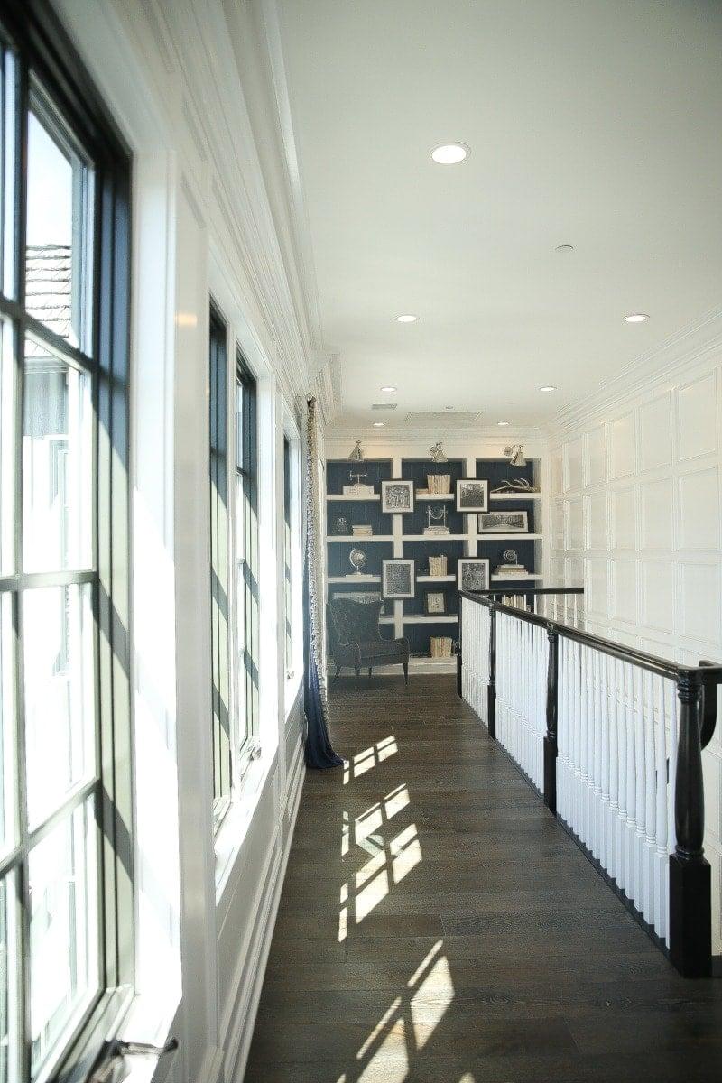 upstairs hallway in farmhouse