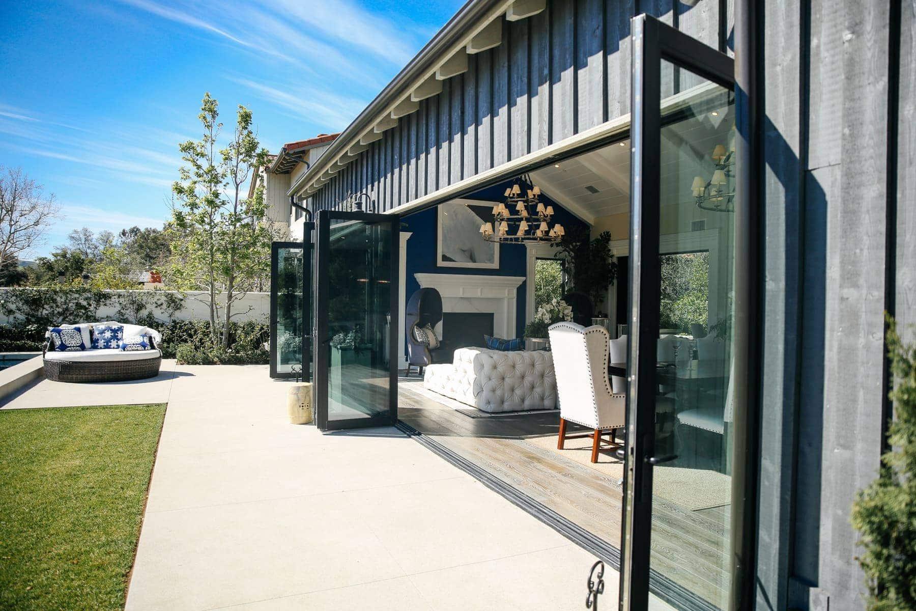 accordion doors to outdoor patio