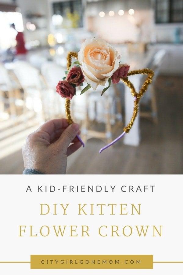 DIY Kitten Flower Crown