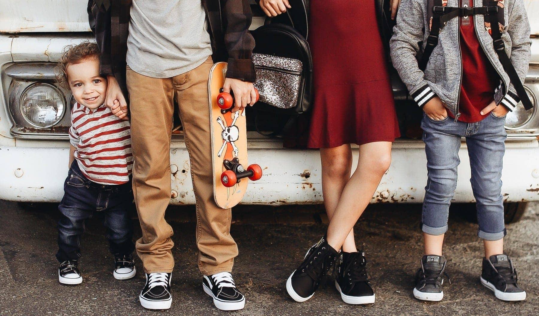kid and siblings back to school