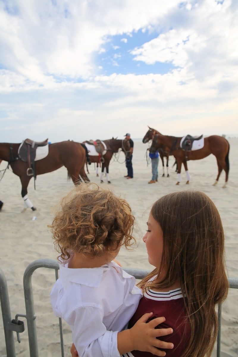 Baby and horses