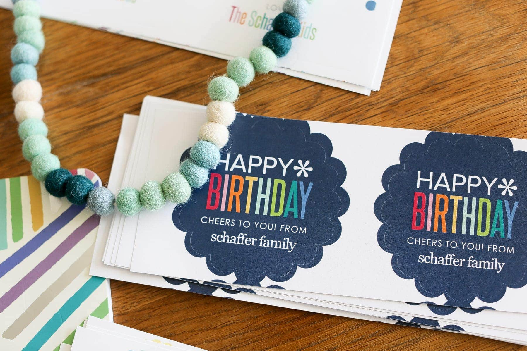birthday labels