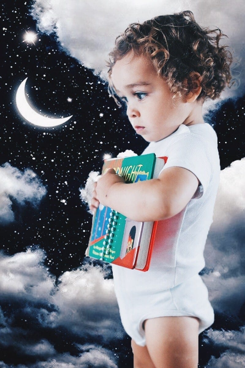 Baby in the night sky