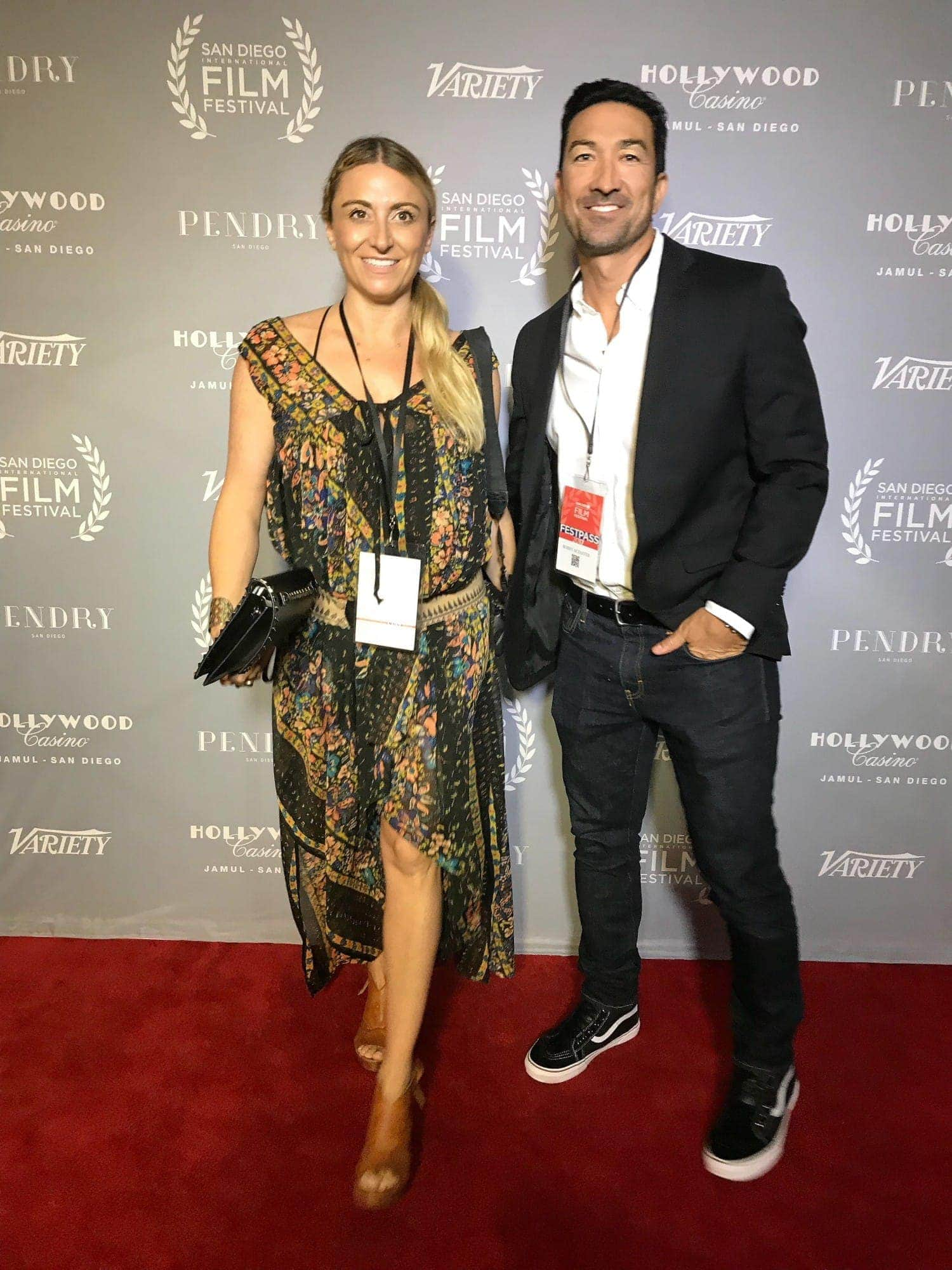 Bobby and Danielle at San Diego film festival