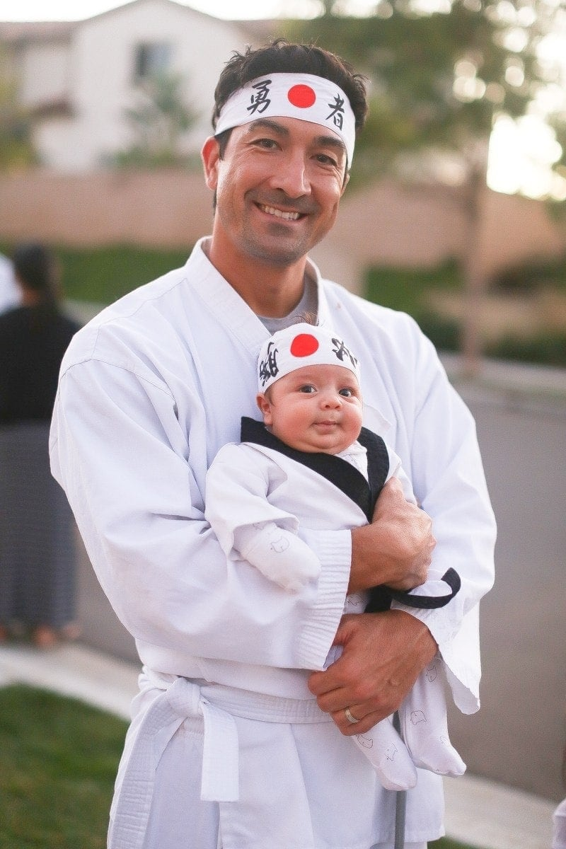 halloween dad and baby