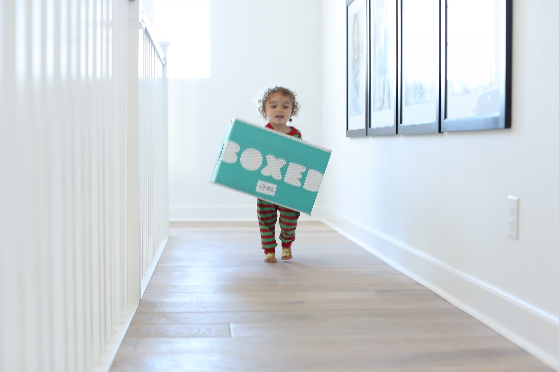 Baby and boxed