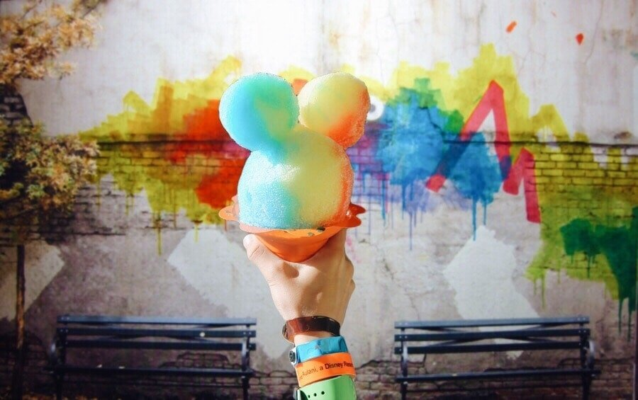 mickey mouse snowcone