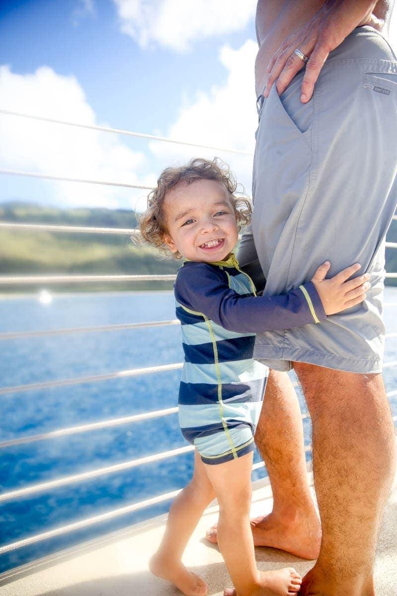 Baby yachting