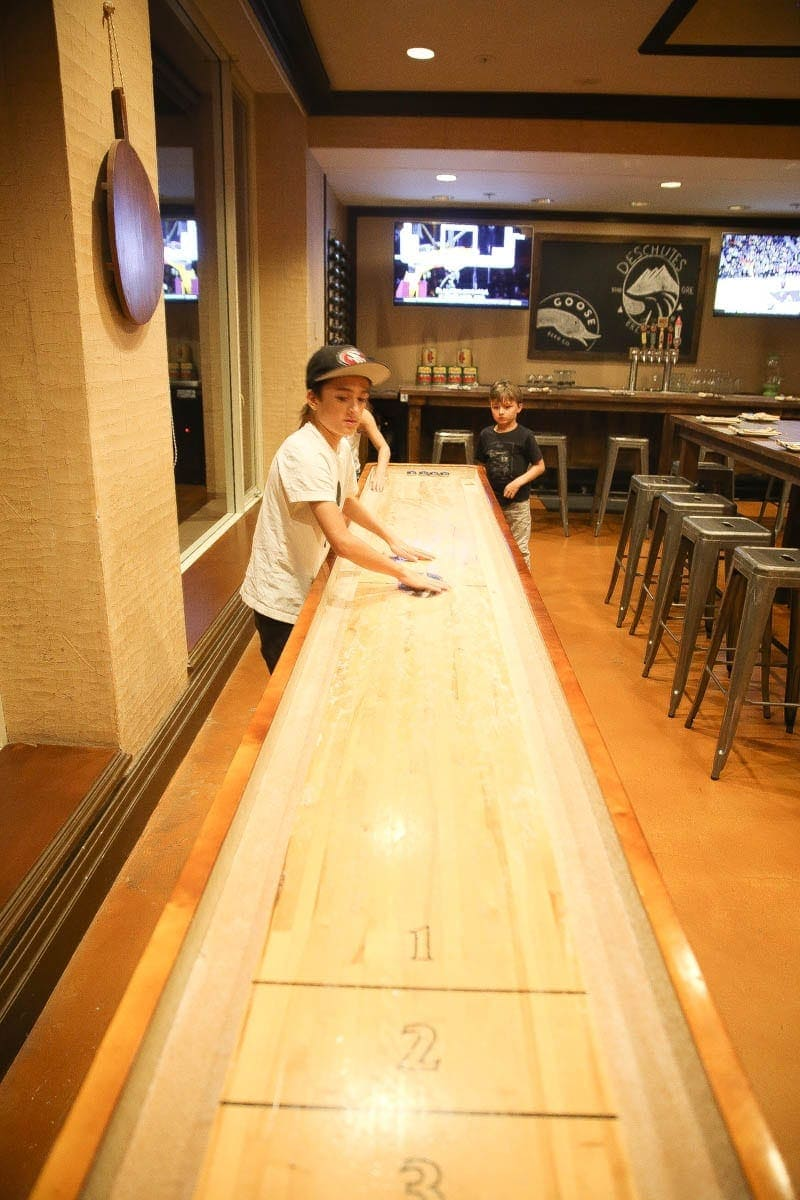 Shuffleboard for the kiddos
