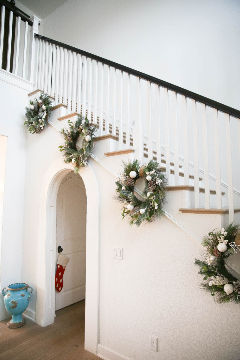 Homemade wreaths are the crowning touch