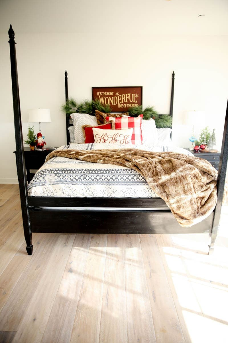 Holiday decor for the master bedroom