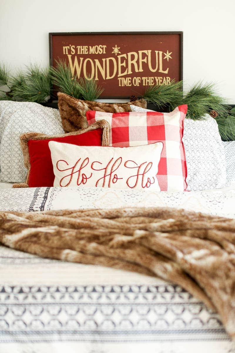 master bed christmas