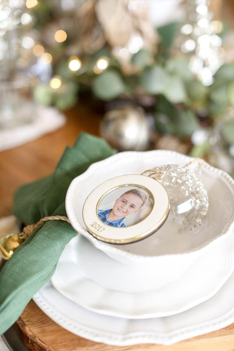 chrismtas place setting