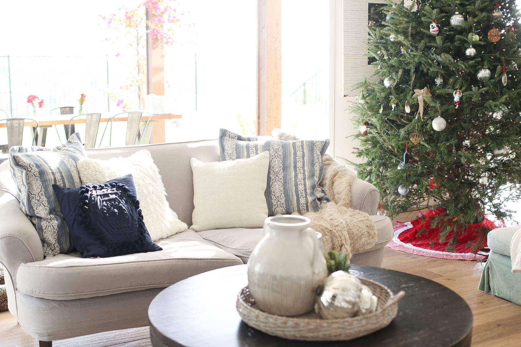 Festive pillows to tie in with Holiday decor