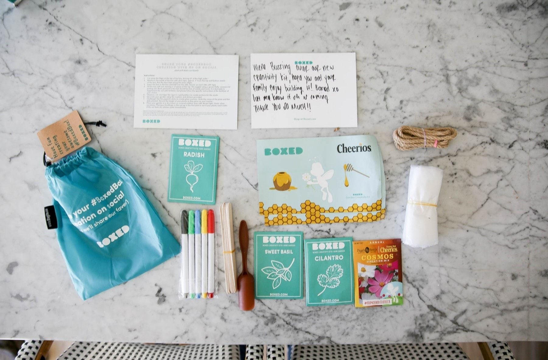 Free creativity kit from Boxed and General Mills' Bring Back the Bees campaign to decorate your mini bee sanctuary