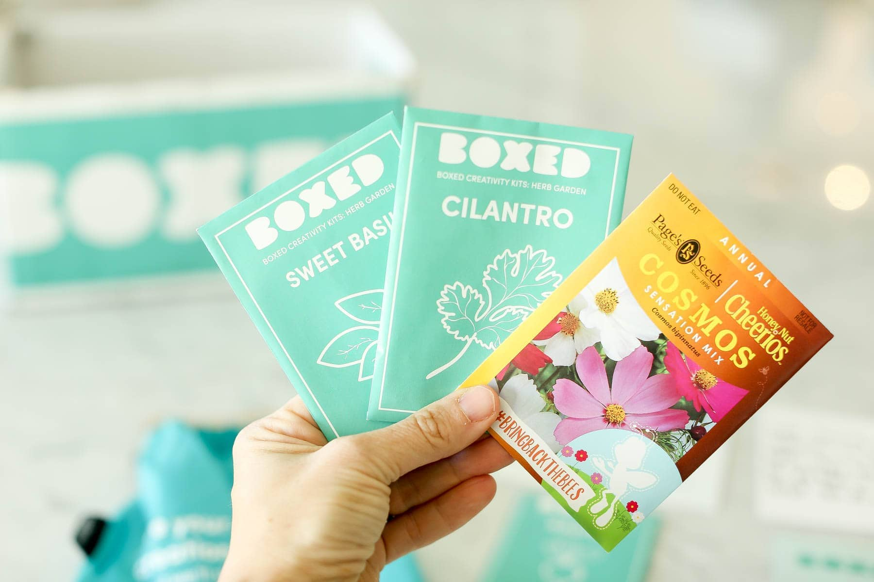 Free seed packets from Boxed and General Mills' Bring Back the Bees campaign