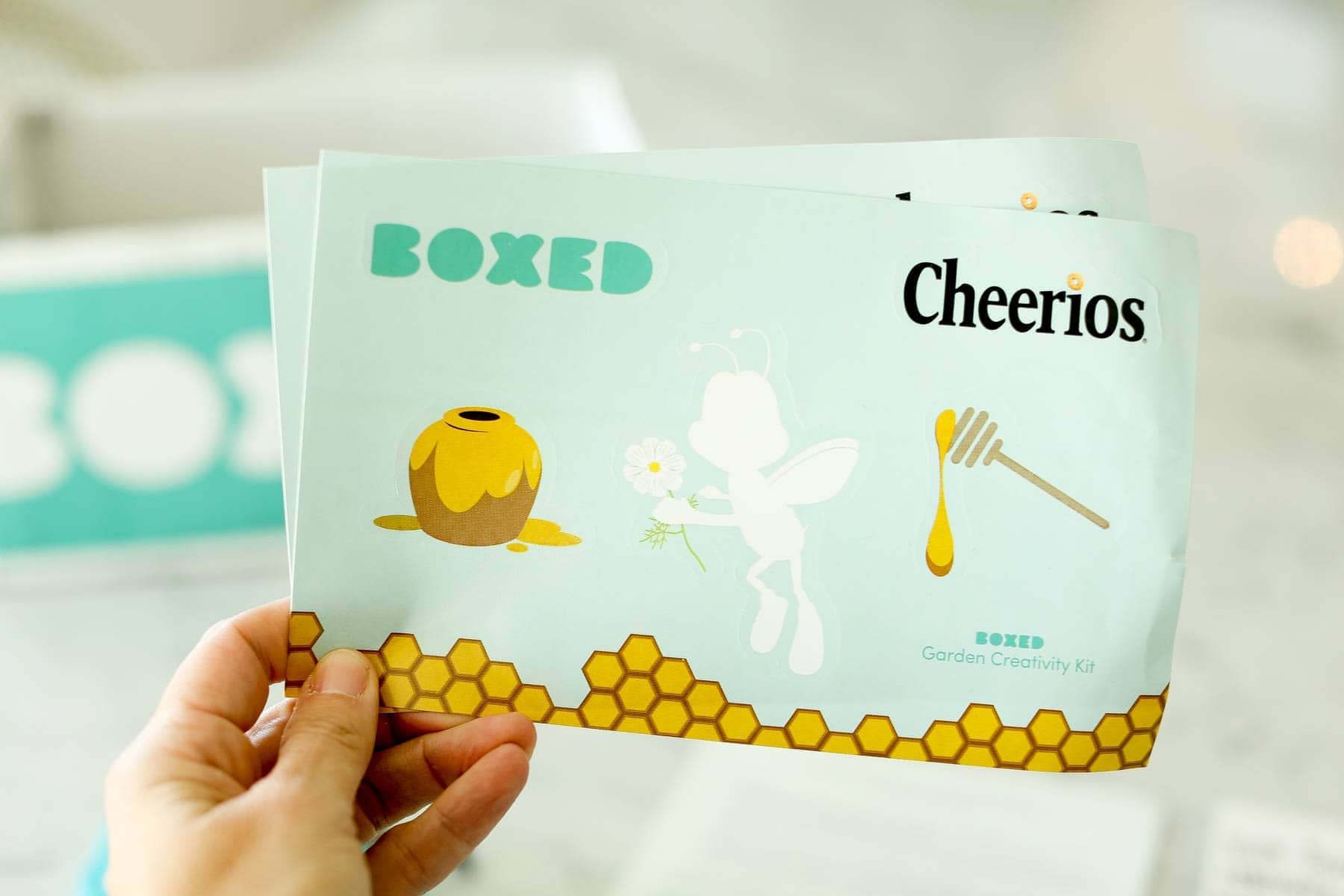 Free creativity kit to decorate your mini garden box from Boxed and General Mills' Bring Back the Bees campaign