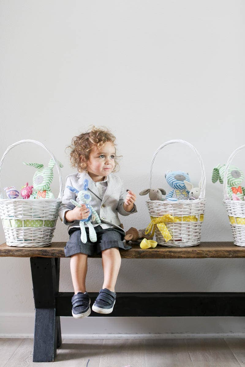 child and easter baskets