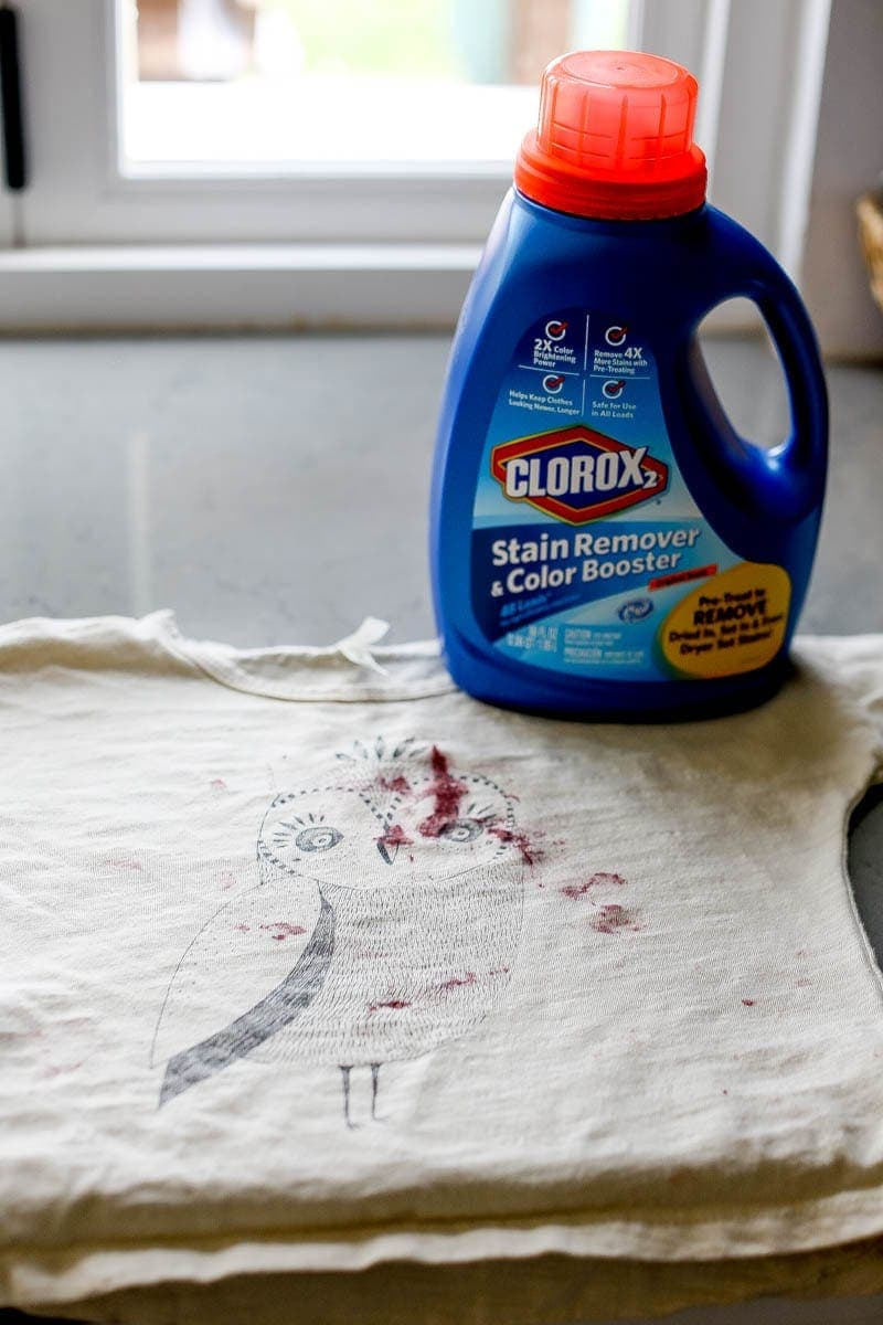 laundry with clorox