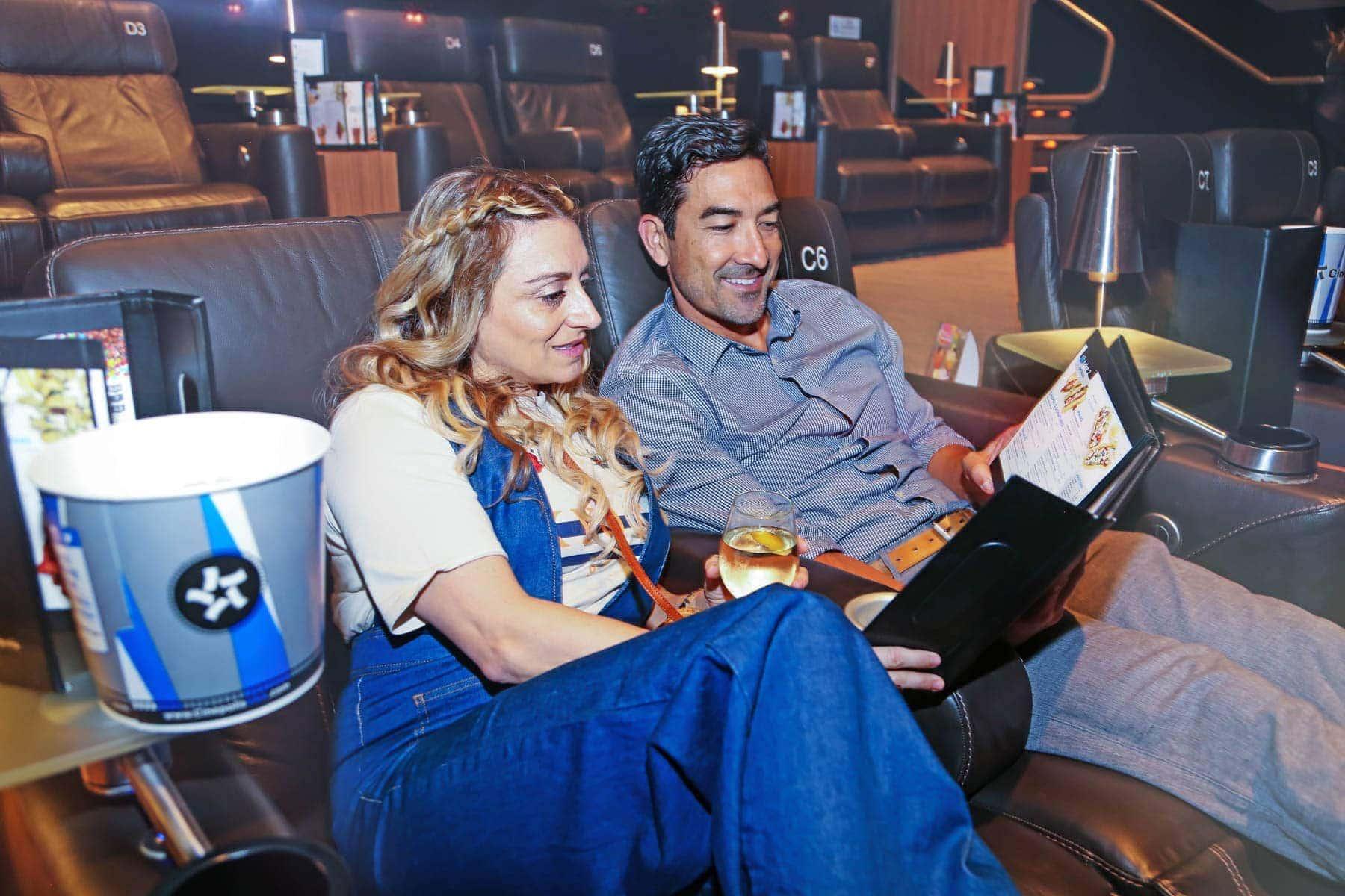 Couple Looking at Menu inside the Cinema #movienight #cinepolis #familybonding #familylove
